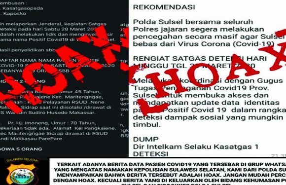 Data Hoax Beredar di Whatsapp