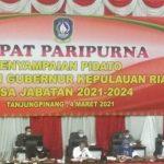 Gubernur dan Wagub Kepri Sampaikan Pidato Perdana di Hadapan DPRD
